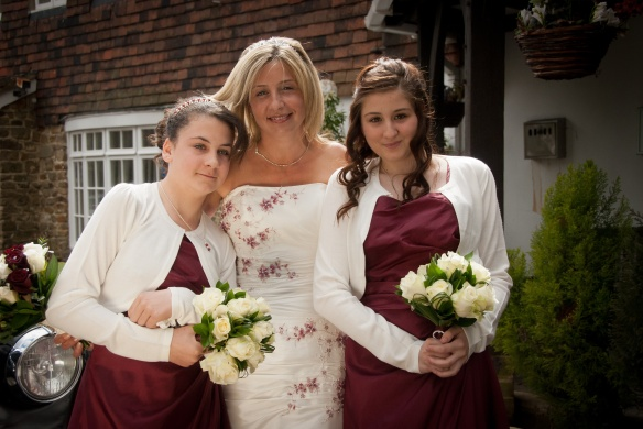 The Beautiful Bride with Bridesmaids Chloe and Abbie.