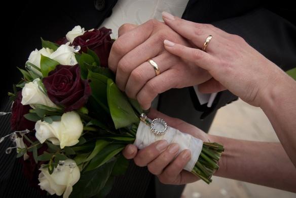 Stunning Wedding Bouquet by Gill Pike Florist.